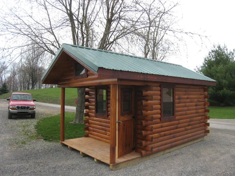 10u0027 X 16u0027 Hunter PROMOTION Cabin Shown With STANDARD 40 Yr Green Painted  Tin Roof