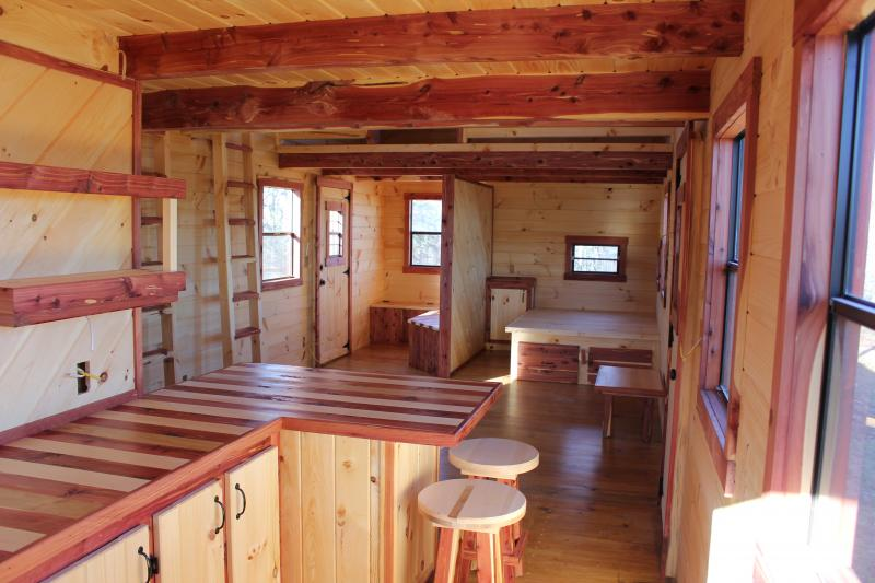 Trophy Amish Cabins LLC 12 X 32 XTREME LODGE 648 Sf
