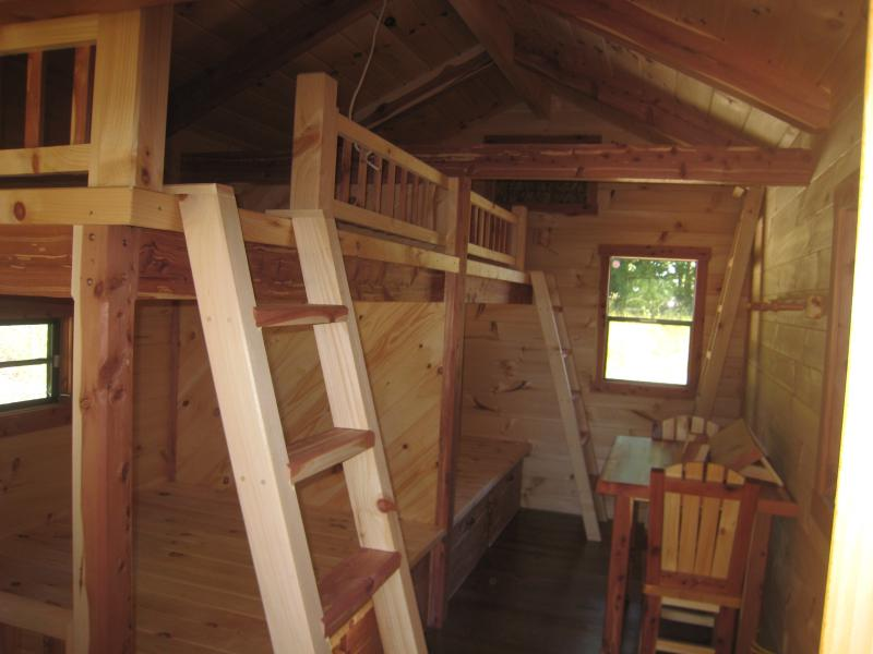 Trophy Amish Cabins Llc 10 X 20 Bunkhouse Cabinshown