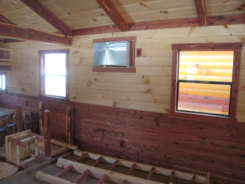 Trophy Amish Cabins Llc 12 X 32 Lodge Cedar Deluxe