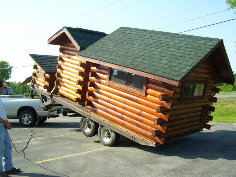 xtreme cabins delivered roof reassembled on site - Tiny Log Cabin Kits