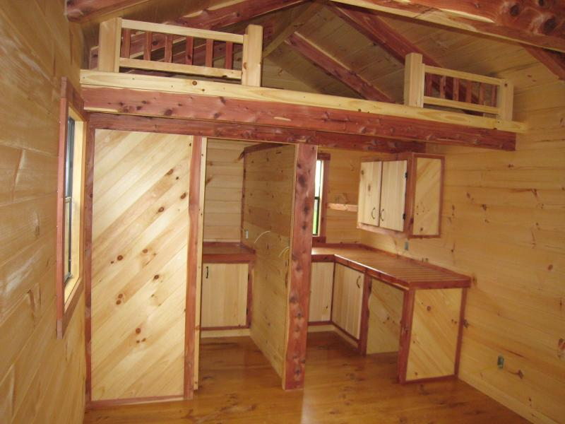 Zekaria storage shed hunting cabin for Log cabin style bunk beds