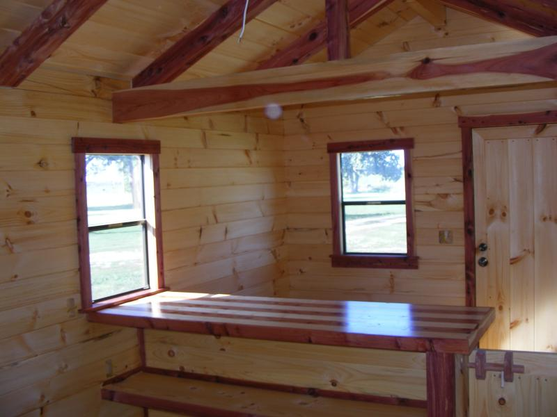 Trophy Amish Cabins Llc Lodge No Porch10 X32 Lodge