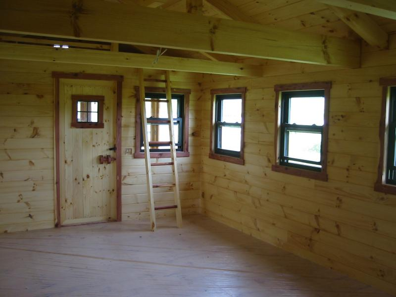 Trophy amish cabins llc interiors for Small cabin interior images